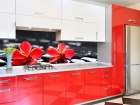 Kitchen red and white